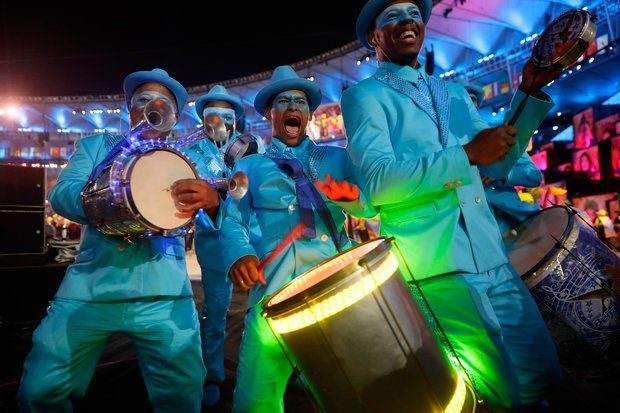 Olympia 2016: Tänzer sorgen für Partystimmung.