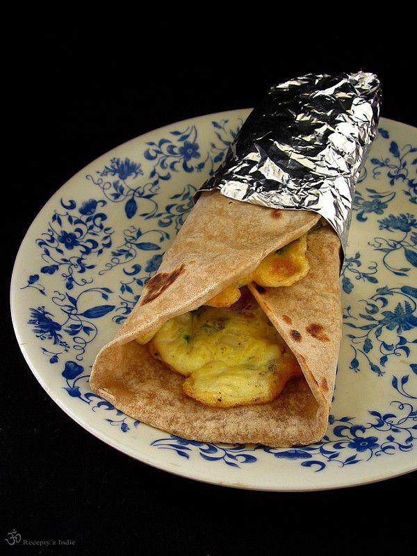Recepty z Indie: Chapati rolka s vajcom (Frankie)