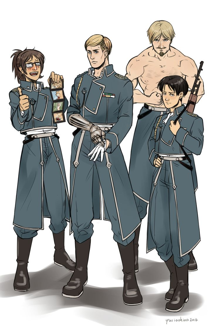"thebritishteapot: "" Like every tv show I'm obsessed with, SNK also had to go through my personal rite of passage and be crossed over with Fullmetal Alchemist. I don't know what to say about this. I..."