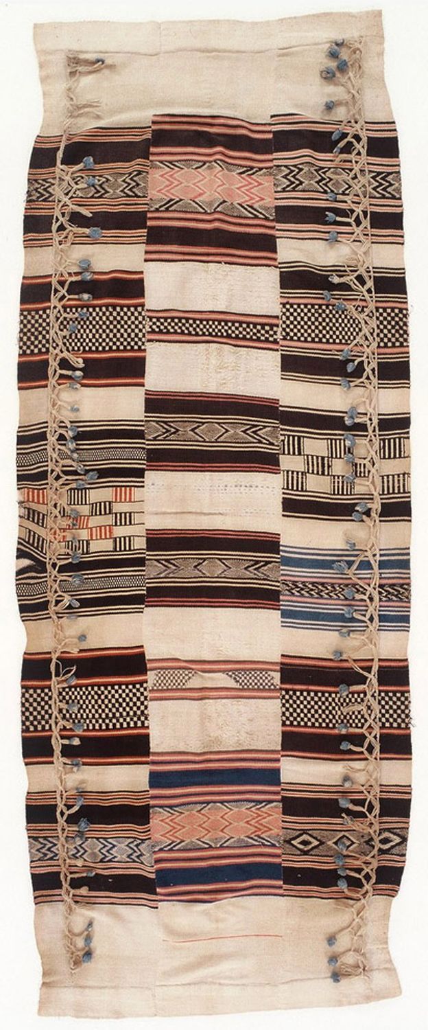Africa | Kpokpo cloth (aka. country cloth) hammock from Sierra Leone | Cotton | Karun Collection of West African 19th century textiles