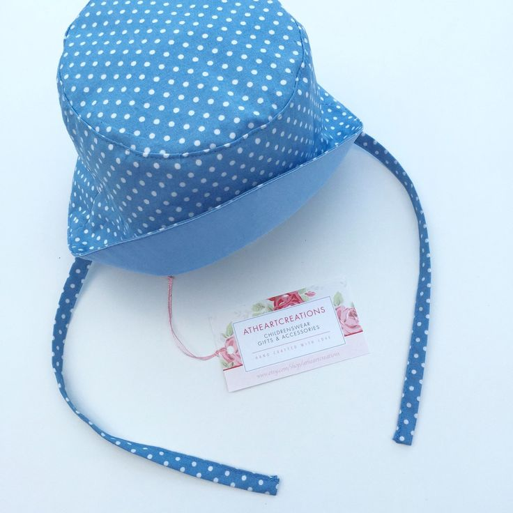 A recent order! Beautiful customised baby sunhat's for twins!