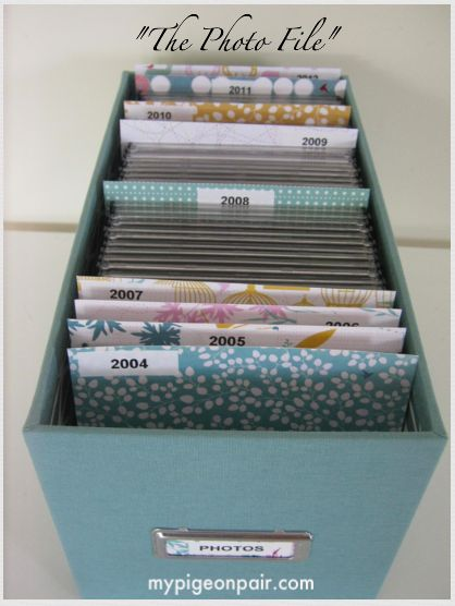 Photo CD Storage - tips on making an organized (and pretty) system