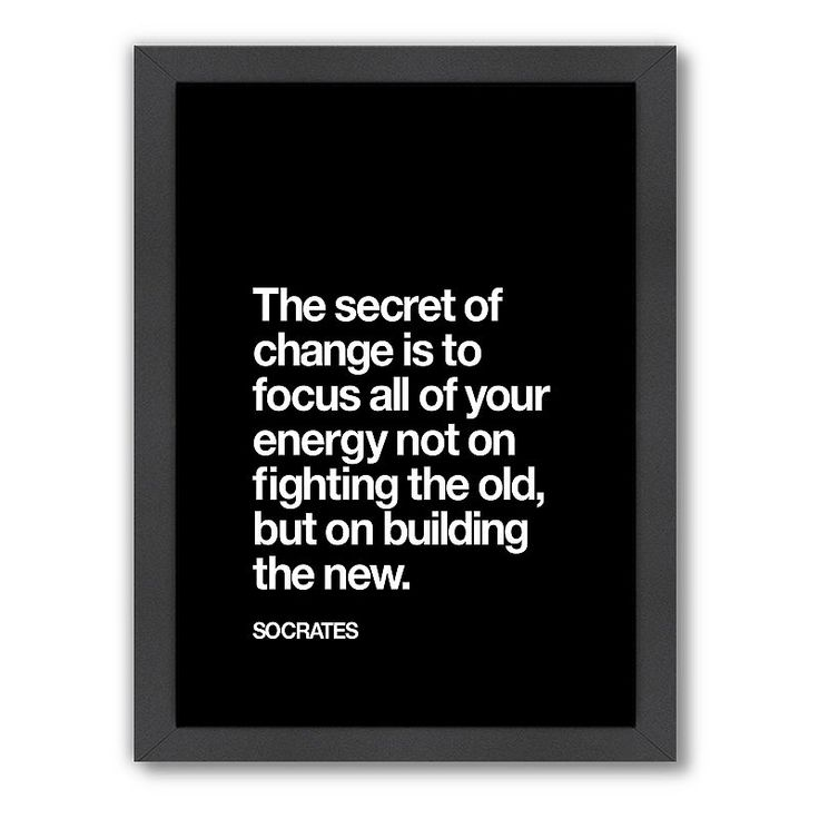 Americanflat Motivated Type ''Secret of Change'' Typography Framed Wall Art, Multicolor