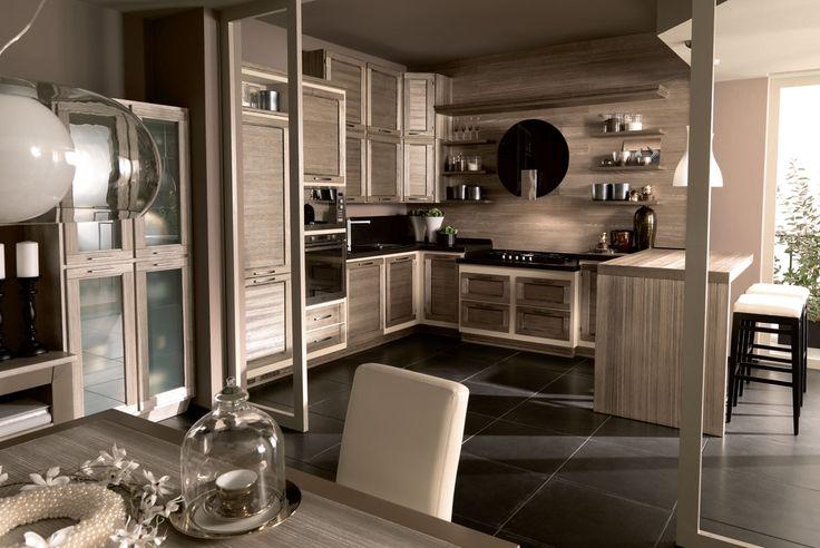 Terre di Toscana finitura Perla Nera #zappalorto #tuscany #madeinitaly #country #kitchen #wood #chic #interior