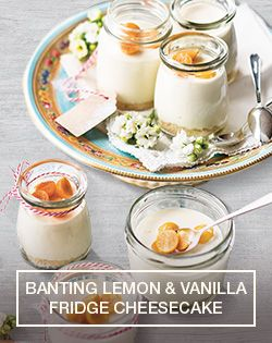 Prepare a Banting Lemon & Vanilla Fridge Cheesecake easily with this recipe .http://www.checkers.co.za/recipes/all-recipes/lemon-and-vanilla-fridge-cheesecake.html