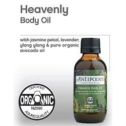 Indulge with some Heavenly Body Oil. Rejuvenate tired, dry skin.