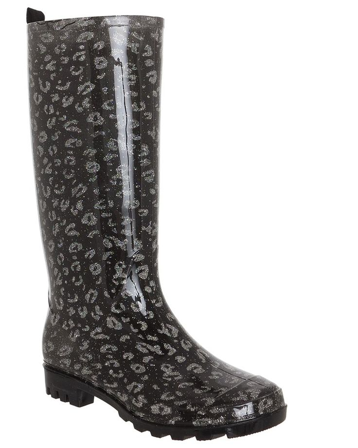 Capelli New York Capelli New York Shiny American Flag Print Ladies Rain Boots Navy Combo Outlet