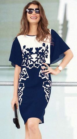 Nähanleitung für ein feminines Kleid mit Fledermausärmeln, Mode selbermachen / sewing pattern for a feminin dress, fashion diy via DaWanda.com