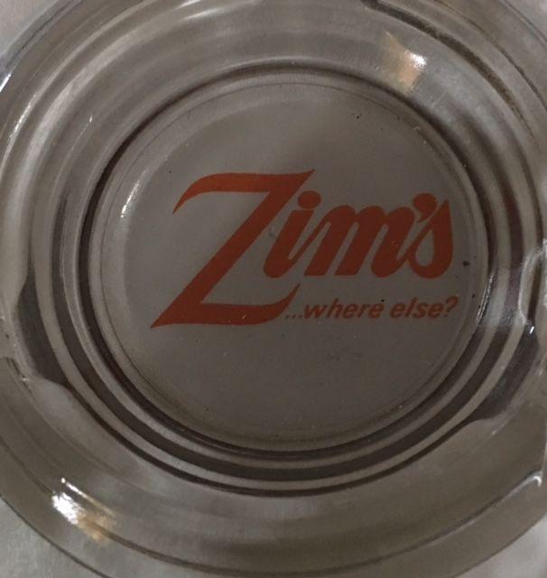 Zim's...where else? Glass Ashtray SF Souvenir