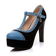 Pumpar / Heels ( Blå/Beige ) - till KVINNOR Stiletto klack - Spetsig tå - i Läderimitation