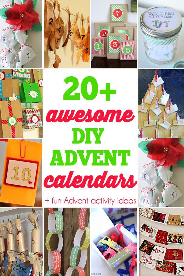 Calendar Ideas Diy : Awesome diy advent calendars countdown to christmas