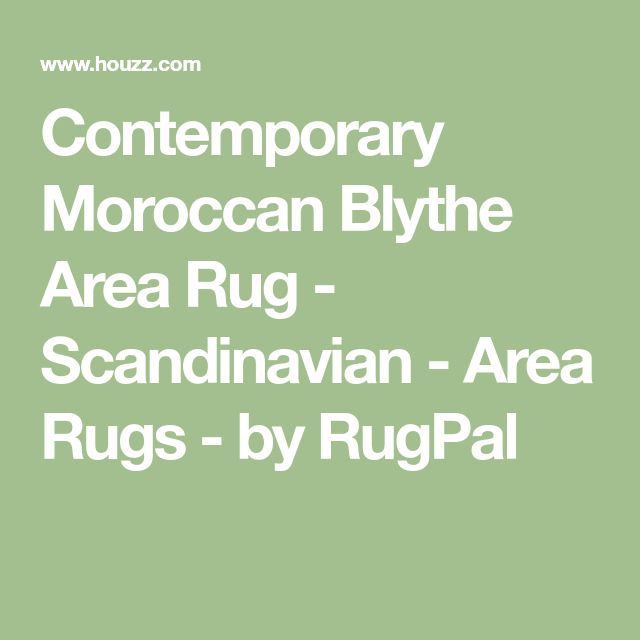 Contemporary Moroccan Blythe Area Rug - Scandinavian - Area Rugs - by RugPal