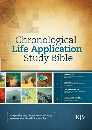 KJV Chronological Life Application Study Bible, $37.99