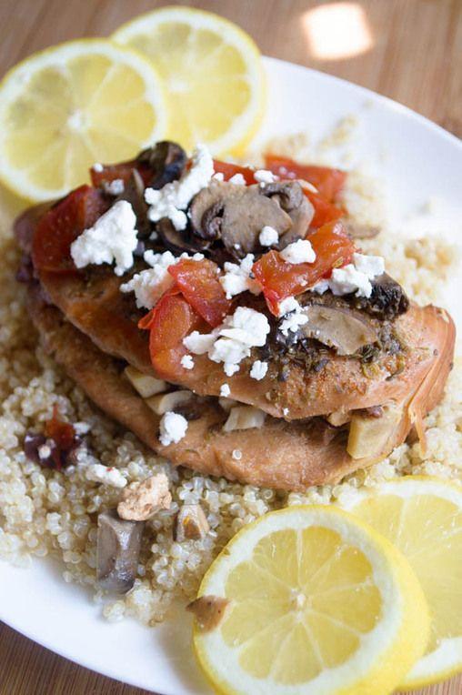 #HealthyRecipe // Slow Cooker Meditteranean Chicken Breasts