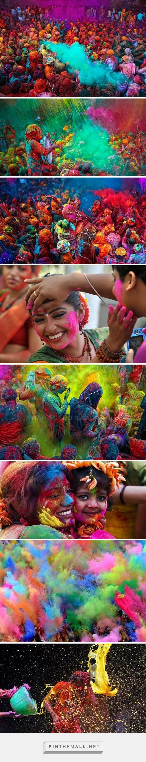 Holi, India Also known as the festival of colors and love, this vivid spring festival brings all people together. The social barriers break completely, friend or stranger, rich or poor, men or women, children or elders, Hindu or not, all people come toget