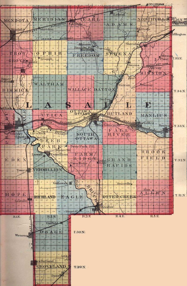 Illinois brown county versailles - Fox River In La Salle County Map Google Search