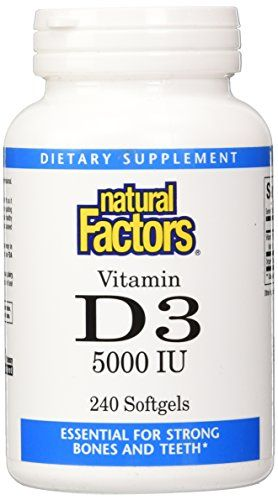 Natural Factors Vitamin D3 5000 Iu Softgels, 240 Count * To view further for this item, visit the image link.  This link participates in Amazon Service LLC Associates Program, a program designed to let participant earn advertising fees by advertising and linking to Amazon.com.