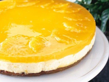 Apelsinmoussetårta med chokladbotten Receptbild - Allt om Mat