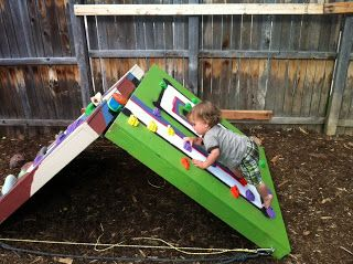 Matt's Climbing Blog: Adjustable Toddler Bouldering Wall -- A Tutorial