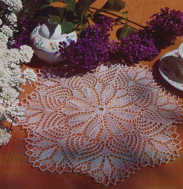 Kira knitting: Scheme knitted tablecloths 1