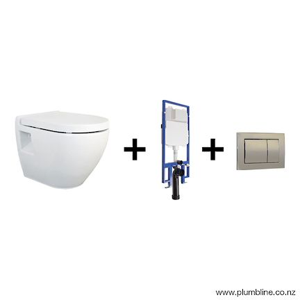 $900 for package...PROGETTO EVO 51 WALL HUNG TOILET PACKAGE