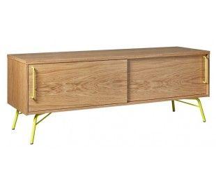 Ashburn sideboard i retro design - Gul/Eg