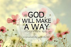 Anything can be done through God. His timing is perfect.