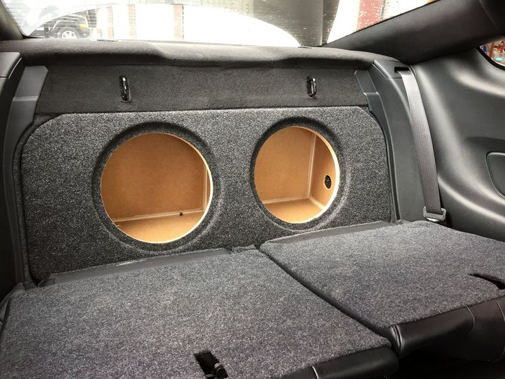 """Zenclosures 2015-2016 Mustang 2-10"""" Subwoofer Box W/recessed Mounting Holes, FRONT FIRE - Charcoal, Version 2. 2015, 2016 Mustang Subwoofer Box."""