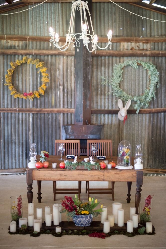 Rustic Navy, Red & Yellow Wedding | SouthBound Bride | http://www.southboundbride.com/rustic-navy-red-yellow-wedding-at-the-cowshed-by-laura-leigh-leande-martin | Credit: Laura Leigh