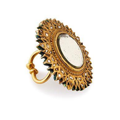 AN 'ARSI' RING #solahshringar #mirror#ring #kundan #meenakari