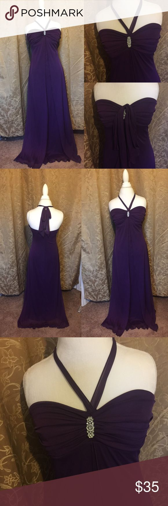 B. Smart purple long formal dress Layered and flowing, very pretty purple dress. Can be used for prom or a fancy night out on the town. Only worn once. In excellent condition. Can be worn as a strapless or tie it with a bow behind the neck. B. Smart Dresses Maxi