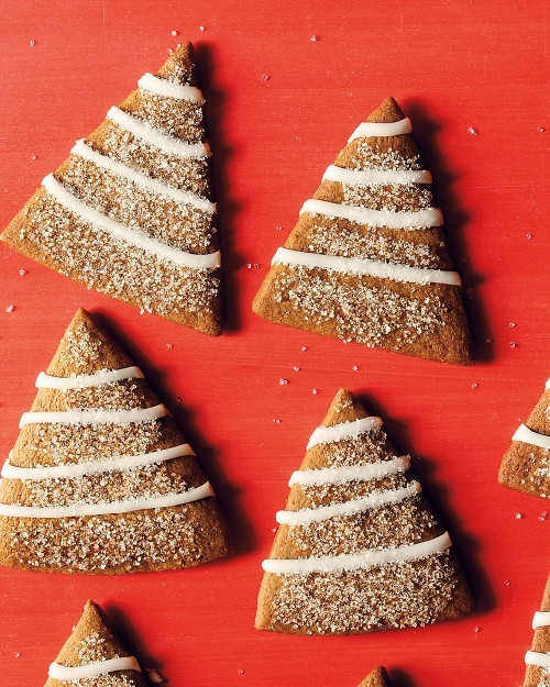 Gingerbread Trees with Lemon Icing - Martha Stewart Recipes