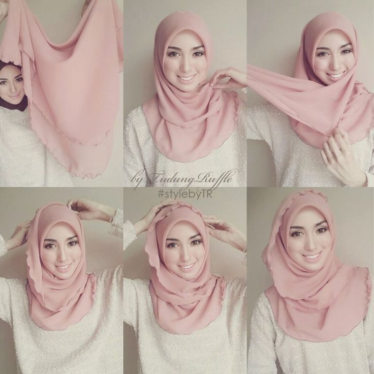 square tudung tutorial ruffle - Google Search