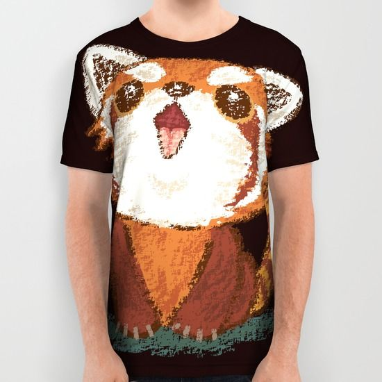 Red panda All Over Print Shirt