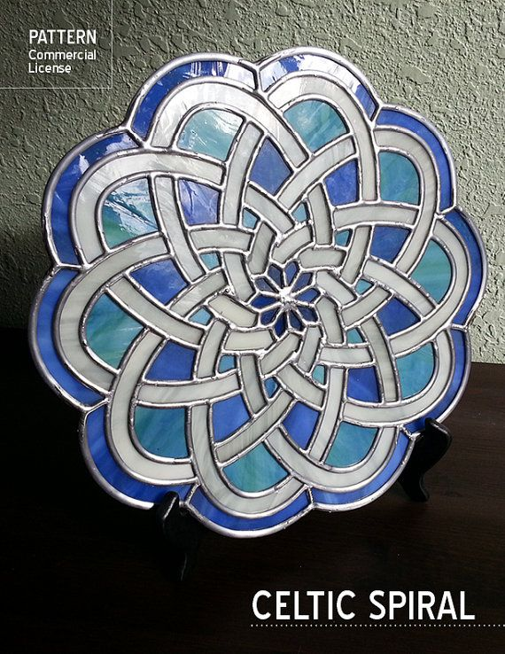 Stained Glass Pattern Celtic Spiral Resale by shellebelledesigns