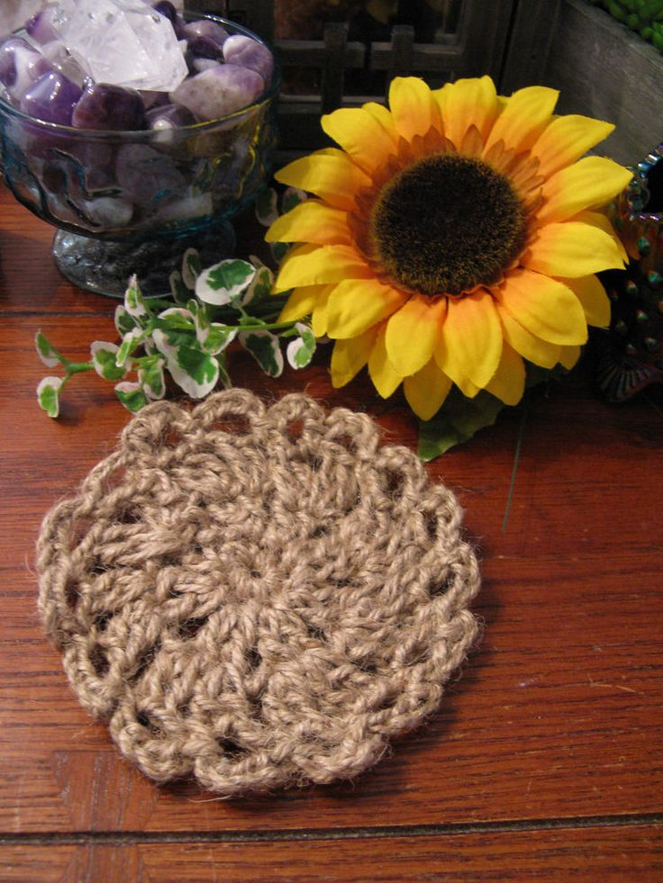 New Snazzy Large Rustic Country Woven Natural Jute Rope Round Shaped Coaster | Home & Garden, Kitchen, Dining & Bar, Bar Tools & Accessories | eBay!