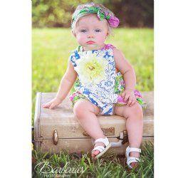 "Haute Baby ""Garden Blossom"" Baby Bubble Sunsuit"
