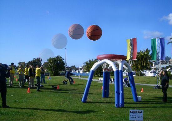 Jättiläiskoris, Lawn Ball, Giant basket ball, Sumo koripallo, Promootio pelit, Magic Games Oy