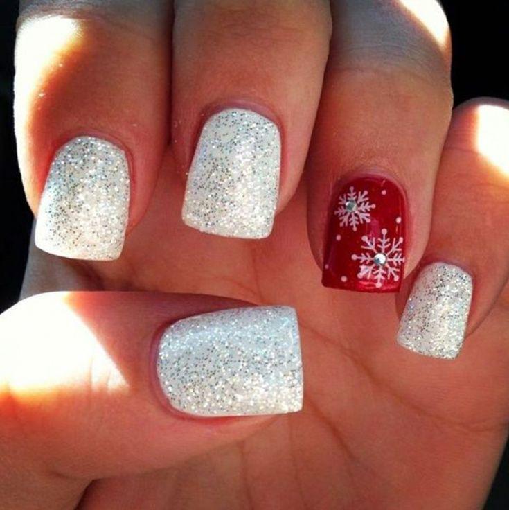 79 best nail art natalizie images on pinterest manicure for Decorazioni natalizie unghie