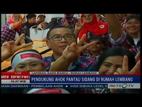 #3 Live - Sidang AHOK ke-3 Hakim Tolak Eksepsi, Pendukung Tetap Semangat