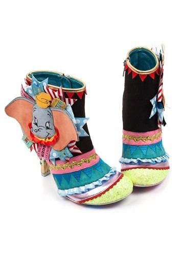 e60b6c7fd6d Irregular Choice Disney Dumbo and Timothy Q Mouse Heeled Ankle Boots ...