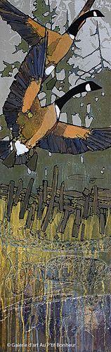 Jean-Pierre Guay, 'Au bout de la clôture', 13,5'' x 42'' | Galerie d'art - Au P'tit Bonheur - Art Gallery