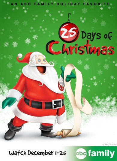 ABC Family 25 Days of Christmas 2012 Schedule--i'll be glad i pinned this!