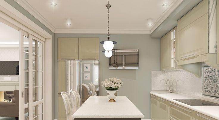 Спокойная цветовая гамма, серо-голубые контрасты вместо ярких цветовых пятен, продуманная планировка и хороший метраж  эта квартира не может не понравиться...