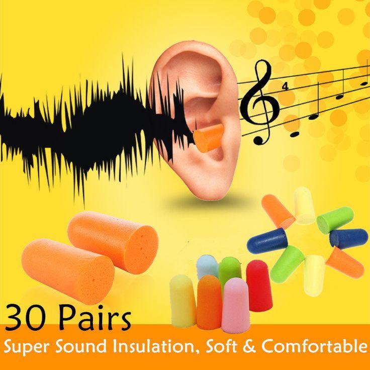 30 Pairs Foam Ear Keeper Protector Sleep Noise Reducer