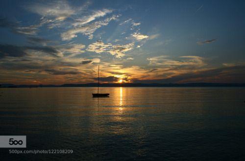 Lake of Balaton by Mailath2084  Central Hungary balaton beach blue hungary lake magyarország plattensee sky sun sunset travel ungarn