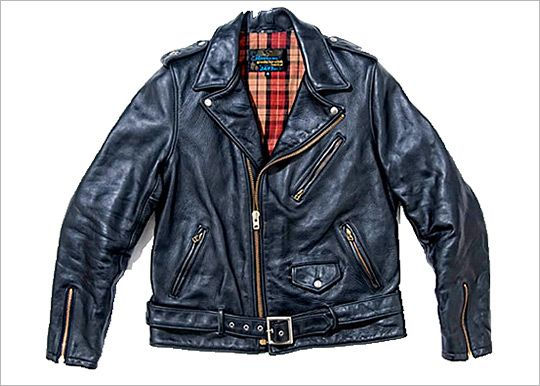 One Star Perfecto for Barney's Special Schott Motorcycle Jacket Designer  Leather