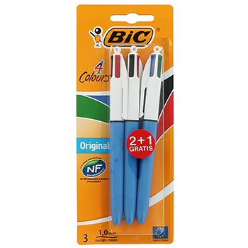 Buy Bic Original 4 Colour Pens - Pack Of 3 online from The Works. Visit now to browse our huge range of products at great prices.