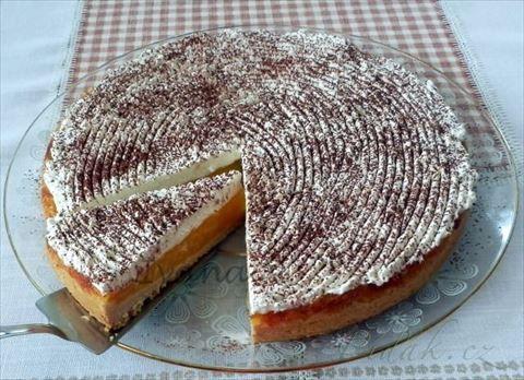 Obrázek z Recept - Jablečný koláč s pomerančovým krémem