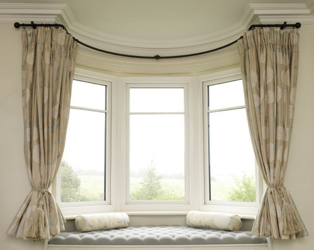 best 25 bay window curtains ideas on pinterest curtains. Black Bedroom Furniture Sets. Home Design Ideas
